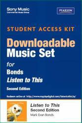 Listen to This-Sony Music  Access Excellent Marketplace listings for  Listen to This-Sony Music  Access  by Bonds starting as low as $81.38!
