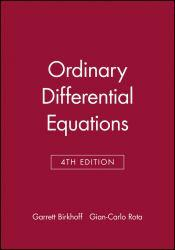 Ordinary Differential Equations (Paperback) Excellent Marketplace listings for  Ordinary Differential Equations (Paperback)  by Garrett D. Birkhoff starting as low as $54.45!