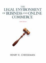 Legal Environment of Business and Online Commerce Excellent Marketplace listings for  Legal Environment of Business and Online Commerce  by Henry R. Cheeseman starting as low as $1.99!