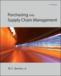 Purchasing and Supply Management A digital copy of  Purchasing and Supply Management  by W. C. Benton. Download is immediately available upon purchase!