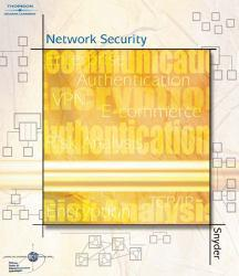 Network Security Excellent Marketplace listings for  Network Security  by Terry Pardoe and Gordon F. Snyder starting as low as $1.99!