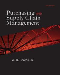Purchasing and Supply Management Excellent Marketplace listings for  Purchasing and Supply Management  by W. C. Benton starting as low as $1.99!