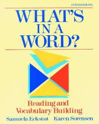 Whats in a Word? Excellent Marketplace listings for  Whats in a Word?  by Samuela Eckstut starting as low as $1.99!