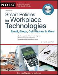 Smart Policies for Workplace Technologies: Email, Blogs, Cell Phones and More - With CD Excellent Marketplace listings for  Smart Policies for Workplace Technologies: Email, Blogs, Cell Phones and More - With CD  by Lisa Guerin starting as low as $1.99!