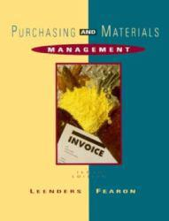Purchasing and Materials Management Excellent Marketplace listings for  Purchasing and Materials Management  by Michael R. Leenders starting as low as $1.99!
