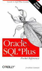 Oracle SQL Plus Pocket Reference Excellent Marketplace listings for  Oracle SQL Plus Pocket Reference  by Jonathan Gennick starting as low as $1.99!