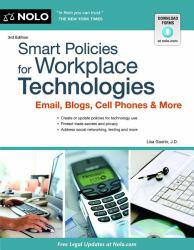 Smart Policies for Workplace Technology : Email, Blogs, Cell Phones and More Excellent Marketplace listings for  Smart Policies for Workplace Technology : Email, Blogs, Cell Phones and More  by J.D. Guerin starting as low as $29.48!
