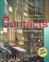 Contacts : Langue Et Culture Francaises Excellent Marketplace listings for  Contacts : Langue Et Culture Francaises  by Rebecca M. Valette starting as low as $1.99!