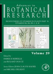 Biosynthesis Of Vitamins In Plants Part B: Vitamins B6, B8, B9, C, E, K A digital copy of  Biosynthesis Of Vitamins In Plants Part B: Vitamins B6, B8, B9, C, E, K  by Rebeille. Download is immediately available upon purchase!