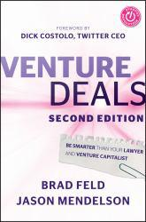 Venture Deals A digital copy of  Venture Deals  by Feld. Download is immediately available upon purchase!
