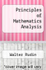 cover of Principles of Mathematics Analysis (3rd edition)