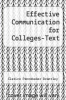 cover of Effective Communication for Colleges-Text (10th edition)