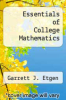 cover of Essentials of College Mathematics (2nd edition)
