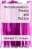 cover of Macroeconomics: Theory and Policy (4th edition)
