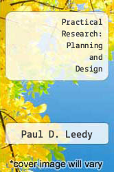 Cover of Practical Research: Planning and Design EDITIONDESC (ISBN 978-0023692406)