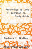 cover of Psychology by Ludy T. Benjamin Jr. - Study Guide (3rd edition)