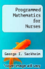 cover of Programmed Mathematics for Nurses (5th edition)