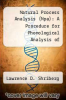 cover of Natural Process Analysis (Npa): A Procedure for Phonological Analysis of Continuous Speech Analysis