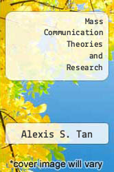 Cover of Mass Communication Theories and Research 2ND 85 (ISBN 978-0024189806)