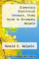 Cover of Elementary Statistical Concepts, Study Guide to Accompany Walpole 2ND 83 (ISBN 978-0024241306)