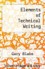 cover of Elements of Technical Writing