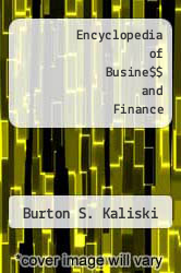 Cover of Encyclopedia of Busine$$ and Finance 2 (ISBN 978-0028650678)