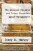 cover of The Abilene Paradox and Other Parables about Management