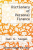 cover of Dictionary of Personal Finance