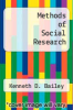 cover of Methods of Social Research (2nd edition)