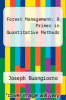 cover of Forest Management: A Primer in Quantitative Methods
