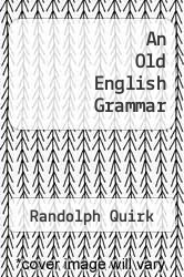 Cover of An Old English Grammar  (ISBN 978-0030076008)