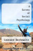 cover of A Survey of Social Psychology (2nd edition)