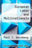 cover of European Labor and Multinationals
