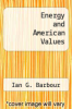 cover of Energy and American Values