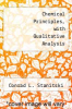 cover of Chemical Principles, with Qualitative Analysis (2nd edition)