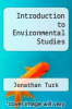 cover of Introduction to Environmental Studies (2nd edition)