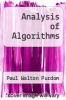 cover of Analysis of Algorithms