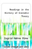 cover of Readings in the History of Economic Theory