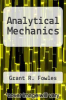 cover of Analytical Mechanics (3rd edition)