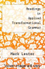 cover of Readings in Applied Transformational Grammar (2nd edition)