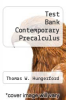 cover of Test Bank Contemporary Precalculus