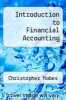 cover of Introduction to Financial Accounting
