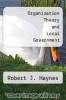 cover of Organization Theory and Local Government