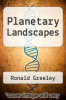 cover of Planetary Landscapes