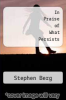 cover of In Praise of What Persists