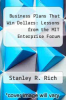 cover of Business Plans That Win Dollars: Lessons from the MIT Enterprise Forum