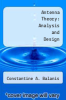 cover of Antenna Theory: Analysis and Design