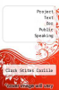 cover of Project Text for Public Speaking (4th edition)