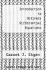 cover of Introduction to Ordinary Differential Equations