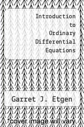 Cover of Introduction to Ordinary Differential Equations EDITIONDESC (ISBN 978-0060419134)